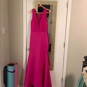 Mermaid fuchsia mermaid dress